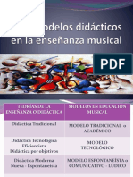Los modelos didácticos en Ed. Musical