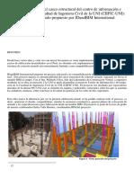 construccción virtual del casco estructural del centro de información
