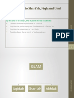 Topic 1 INTRODUCTION TO SHARIAH, FIQH AND USUL FIQH