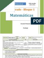Plan 6to Grado  Matemáticas (2015-2016)
