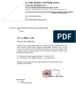 Surat Keterangan lulus BTCLS