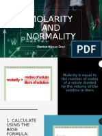 molarity normality