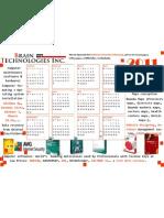Free Downloadable Brain Technologies Inc. Calendar