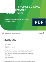 Environment Canada Coal Mining Effluent Regulations Draft 2020