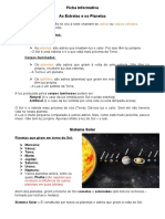 Ficha Informativa - As estrelas e os planetas
