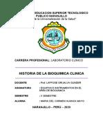 HISTORIA DE LA BIOQUIMICA CLINICA