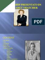 Presentation On Margaret Thatcher