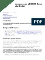 MDS Firmware upgrade