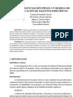 Las inteligencias múltiples_un modelo de identificación de talentos específicos_MD Prieto