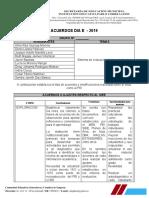 ACUERDOS DIA E - GRUPO 10A-B
