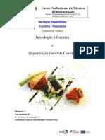 Módulo 1 Introdução à Cozinha e Organização Da Cozinha
