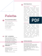 Creative Border Experienced Pink Resume-42