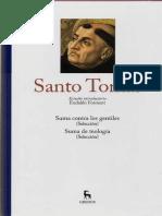 Estudio introductorio Santo Tomas - Ed Gredos