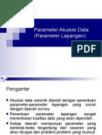 Parameter Akuisisi Data