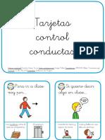 Tarjetas Habilidades Sociales Control de Conducta