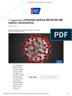 Preguntas comunes del coronavirus