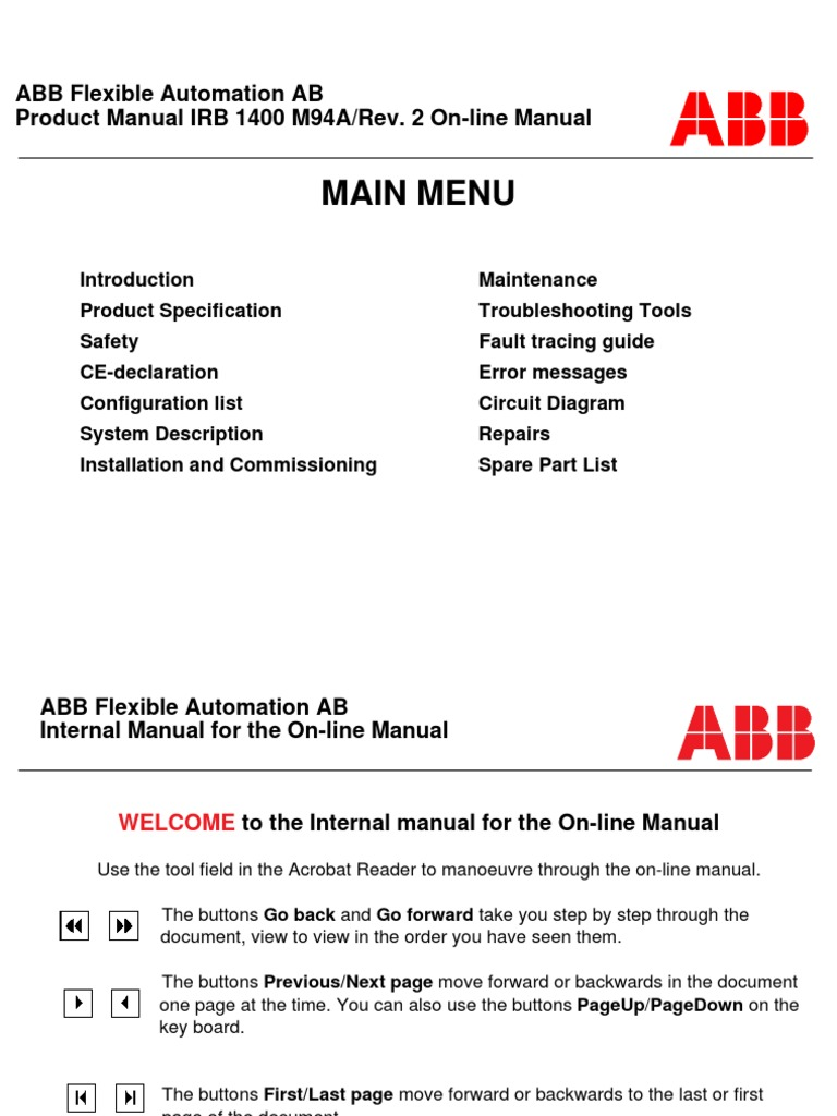 s4 irb1400 m94a product power supply switch rh scribd com ABB Variable Speed Drives VFD Drives How They Work
