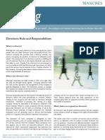 Directors- Roles and Responsibilities