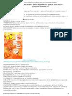 Funciones ingredientes cosmeticos