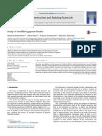 Study of modified gypsum binder