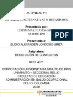 ACTIVIDAD 4 RESOLUCION DE CONFLICTOS UNIMINUTO