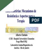 Mecanismode Resistência em Enterobactérias