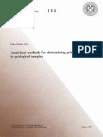 Metodos analiticos  para oro en muestras geologicas Finlandia.pdf