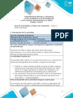 Guia de actividades y Rúbrica de evaluación - Unidad 1 - Tarea 1 - Contextualización
