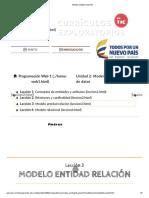 Modelo entidad relaciónDPF