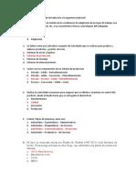 Cuestionario para examen de introducción a la ingeniería industrial