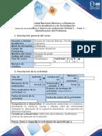 Guía de actividades y rúbrica de evaluación - Fase 1 - Identificar el problema