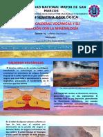 Calderas volcánicas y su relación con la mineralogía