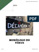 Monólogo Do Vírus