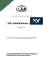 Hydro Statically Balance Loading