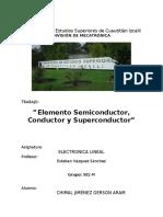 elemento Semiconductor, Conductor y Superconductor