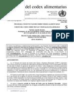 comité del codex sobre frutas y hortalizas elaboradas
