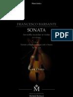 F.Barsanti Sonata n.1 Per Flauto e Continuo Ediz.musica Antica