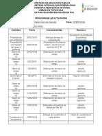 CRONOGRAMA DE ACTIVIDADES ivan 2019