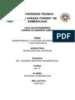 CUSTODIA Y TRANSFERENCIA PETROLEO