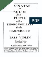F.Barsanti     6 Sonate Per Flauto e Continuo 1724 Fac-Simile