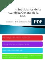 Órganos Subsidiarios de la Asamblea General de la ONU (2)