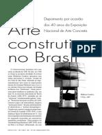 CAMPOS A arte construtiva no Brasil