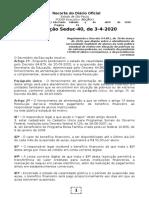 04.04.2020 Resolução Seduc 40-2020 Atendimento Ede Alunos Em Situação de Pobreza
