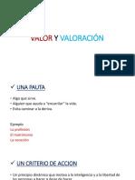 Valor y Valoración
