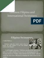 Greatest Filipino and International Swimmers