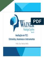 2019_10_23_11_39_13_AULA 4 - AVALIAÇÃO EM TCC- ENTREVISTA, ANAMNESE E INSTRUMENTOS UTILIZADOS - Patricia Melo.pdf