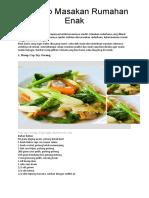 7 Resep Masakan Rumahan Enak