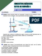 CONCEITOS BÁSICOS -TESTES DE REVISÃO 1