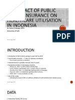 The Impact of Public Health Insurance On Healthcare Utilisation in Indonesia