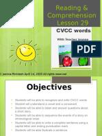 CVCC Words Lesson 29